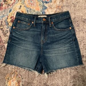 Madewell High-Waisted Denim Shorts